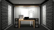 Визуализация студии звукозаписи
