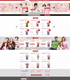 Дизайн интернет магазина TOKO PIYAMA