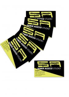 Дизайн визитки для чешского дизайнера