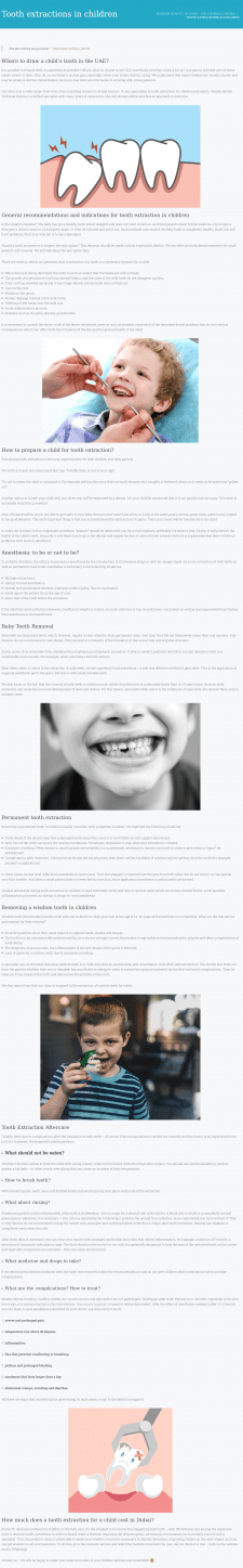 Tooth extractions in children