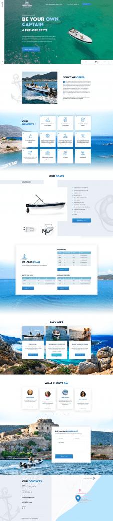 Сайт под ключ Аренда моторных лодок EN RU