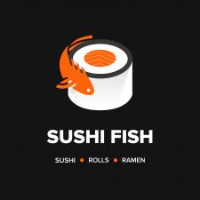 Дизайн логотипа Суши - бара White