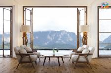 Mountain view for advertising laminate Vista oak
