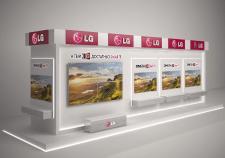 Выставочный стенд LG под TV/AV