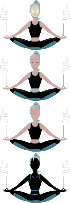 Yoga, spa and aroma sticks