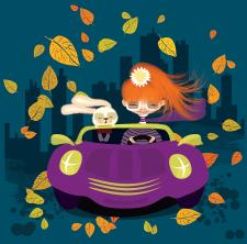 """Детская иллюстрация """"Осень"""""""