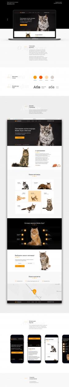 Презентация сайта питомника кошек