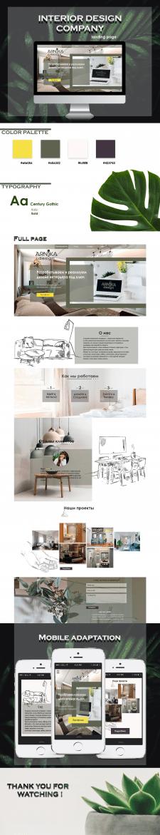 Сайт по дизайну квартир