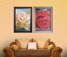 Живопись «Белая и Красная розы»