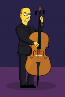 Simpson - double bass playe