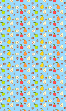 summer fruits background - Vector