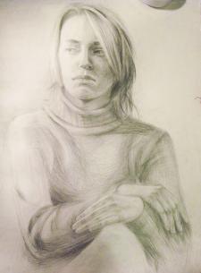 Портрет. Рисунок с натуры.