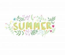 Иллюстрация с надписью лето