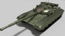 Танк Т-64 (Визуализация и моделирование)