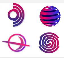 Логотипы для студии веб разработки и дизайна