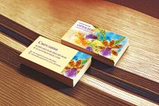 Дизайн визитки продажа цветов