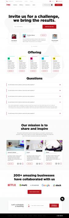 UX/UI дизайн сайта для Irex