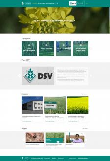 Верстка сайта DSV