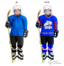 Полное реалистичное изменение хоккейной формы