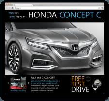 Landing Page Honda