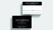 Визитки для салона красоты Инги Смирновой