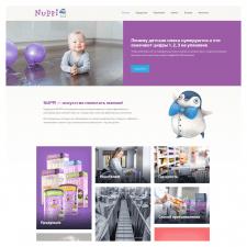 Настройка шаблона WordPress для детское питание