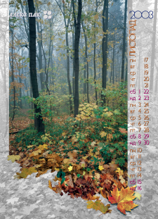 Страница имиджевого календаря