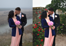 Коррекция фотографии с заменой фона
