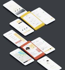 UI дизайн приложения для велосипедистов BikeUP