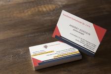 Разработка дизайна визиток для польской компании