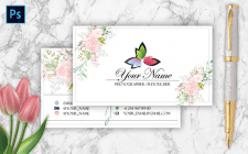 PSD business card Layout for a photographer