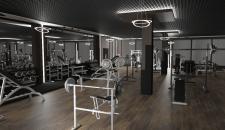 Дизайн тренажерного зала в фитнес-центре