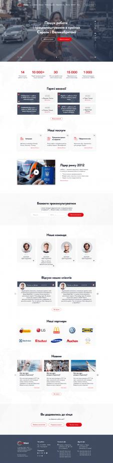 Редизайн сайту з працевлаштування за кордоном