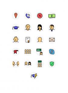 Иконки для курсов английского языка