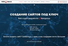 Landing page студии web-разработки WebGenius