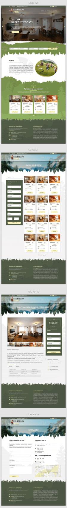Многостраничный сайт по аренде квартир в Германии