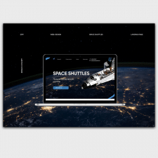 Landing page for sale of space shuttles