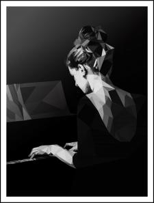 Девушка играет на фортепиано