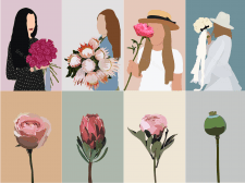Иллюстрации для студии флористики