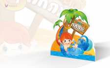 Рекламный стенд для аквапарка