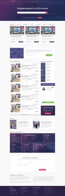 Сайт недвижимости в Испании