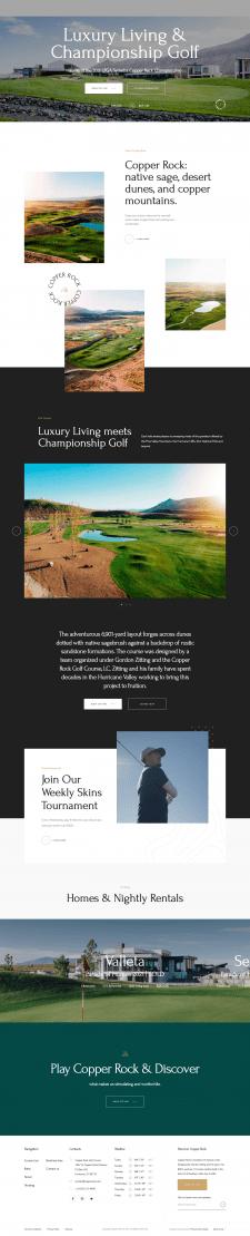 Copperrock - сайт для гольф клуба із США