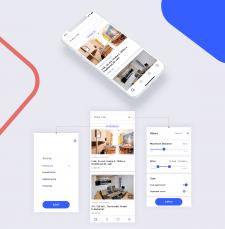 Концепт мобильного приложение для Аренды жилья