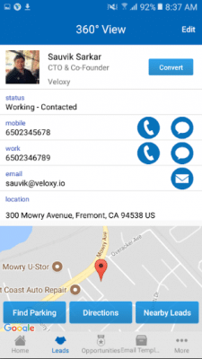 Veloxy for Salesforce CRM