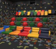 3d моделирование и визуализация зала в кинотеатре