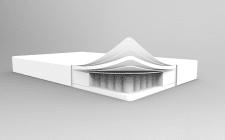 3D заготовка модели матраса