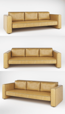 Leather sofa Contour