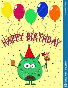 Детская поздравительная открытка