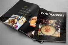 Дизайн и контент для журнала FOODLOVERS