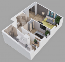 3D планировка квартиры г. Киев